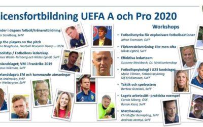 Licensfortbildning, UEFA A och Pro